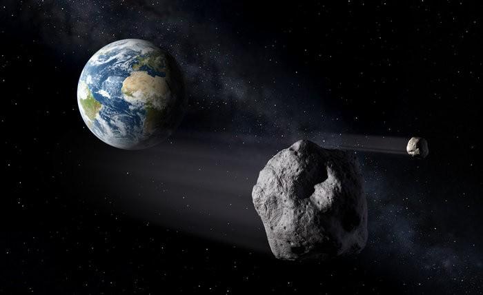 Ilustração feita pela Agência Espacial Europeia mostra asteroides passando próximo da Terra (Foto: ESA/P.Carril)