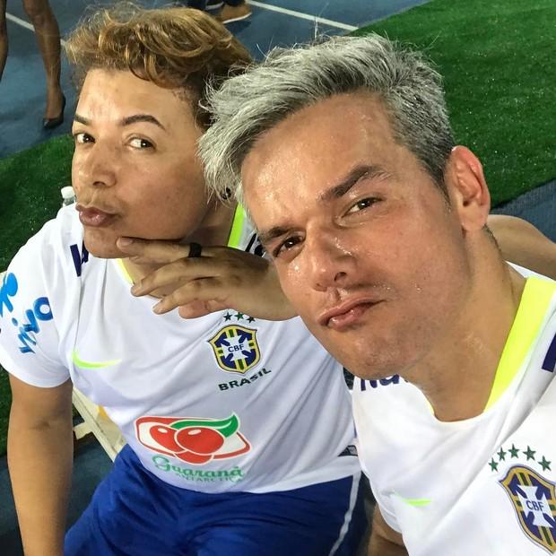David Brazil e Otaviano Costa (Foto: Reprodução/Instagram)