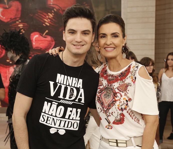 O vlogger Felipe Neto comentou o sucesso na internet (Foto: Raphael Dias/Gshow)