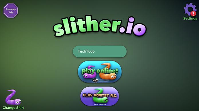 Selecione o modo offline do Slither.io (Foto: Reprodução/Murilo Molina)
