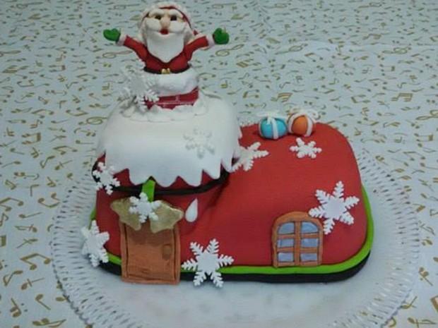 Divinópolis, bolo, personalizado, natal (Foto: Aline's Cake/Divulgação)