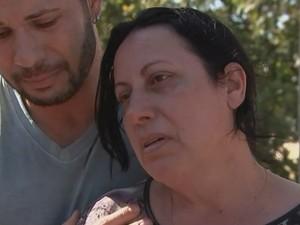 Maria Aparecida Caetano lamenta a morte da filha (Foto: Reprodução / TV TEM)