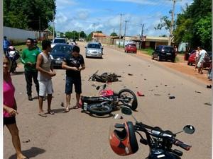 Acidente aconteceu por volta de 12h20 no km 5 da PA-370 (Foto: Paulo Gasolina/Divulgação)