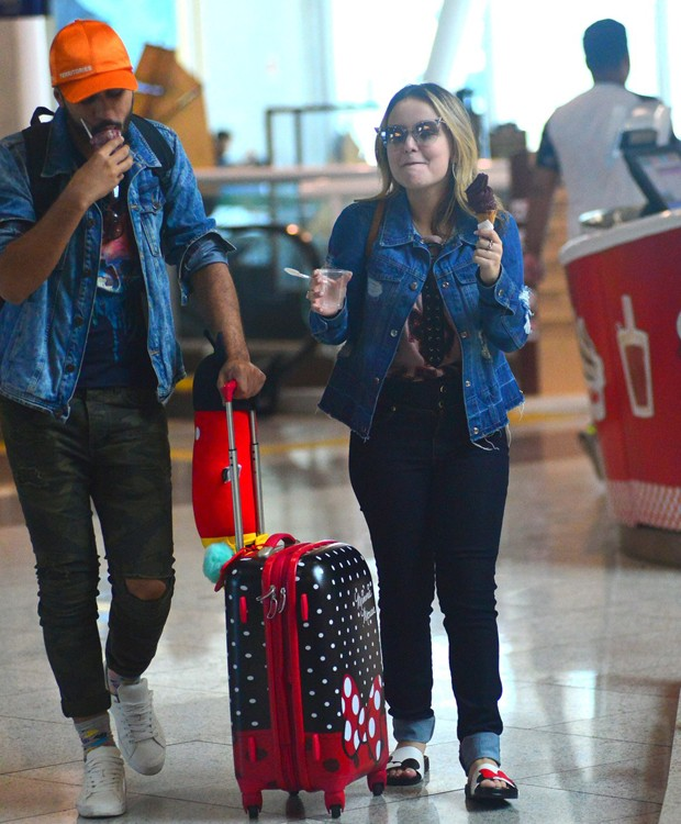 Ramin Amorim e Larissa Manoela (Foto: William Oda/AgNews)