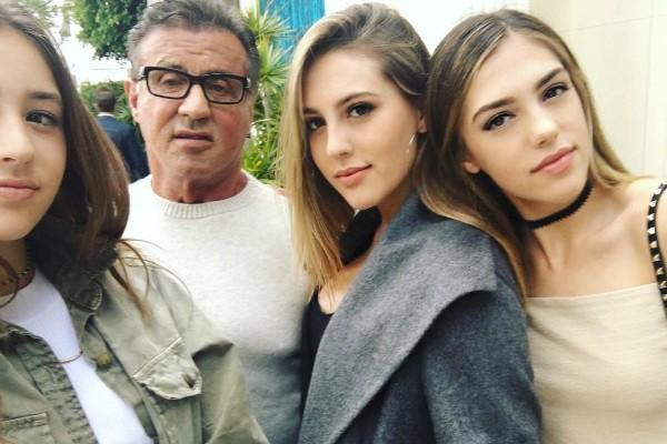 Sylvester e suas filhas (Foto: Reprodução Instagram)