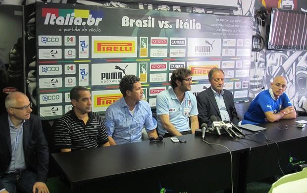 Showbol Brasil x Itália (Foto: Globoesporte.com)