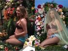Camilla Luddington faz ensaio de grávida parecido com o de Beyoncé