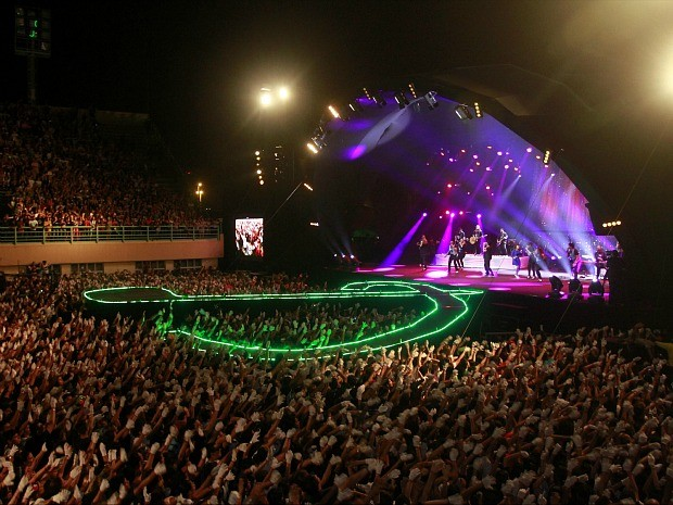 Show em Manaus foi a gravação de CD e DVD ao vivo da banda (Foto: Divulgação)