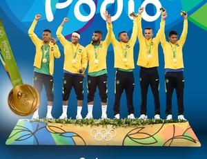Pódio futebol olimpíada
