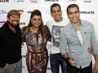 Preta Gil posa com Bell Marques, do Chiclete com Banana, no Rio