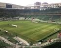 Após vitória, Barrios e Gabriel treinam no gramado da arena do Palmeiras