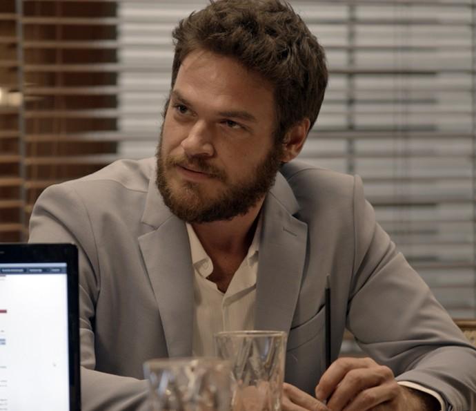 Pedro não gosta de evr Lívia na liderança (Foto: TV Globo)