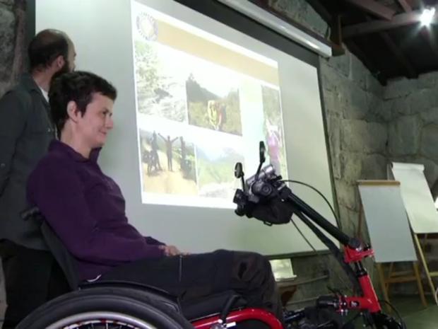Deficientes físicos poderão ir a parte alta do Parque Nacional de cadeira de rodas (Foto: Reprodução/TV Rio Sul)