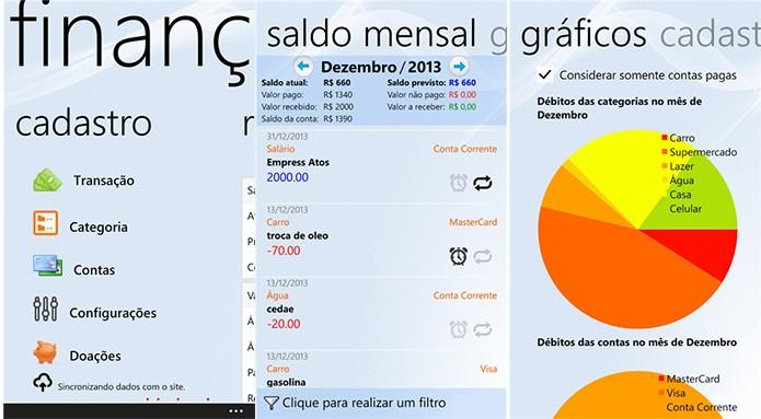 Finanças é um aplicativo para Windows Phone com suporte a smartphones antigos (Foto: Divulgação/Windows Phone Store)