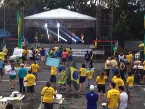Manifestação em Teresina (Foto: G1)