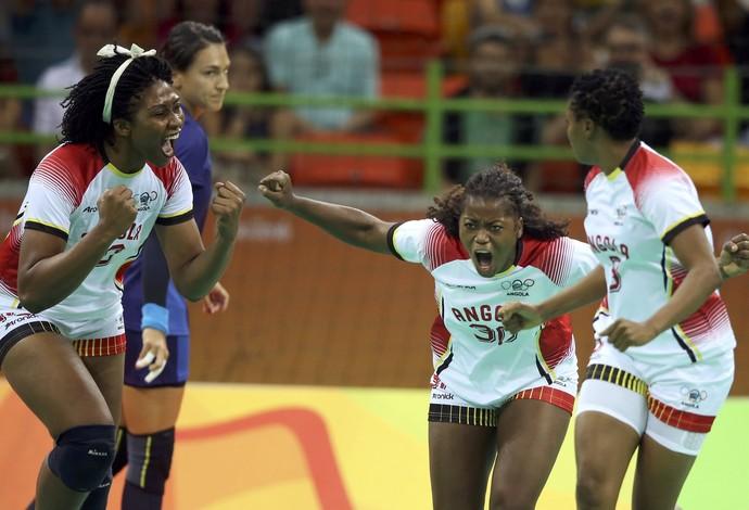 Romênia x Angola, handebol, Olimpíada, Rio 2016 (Foto: Reuters)