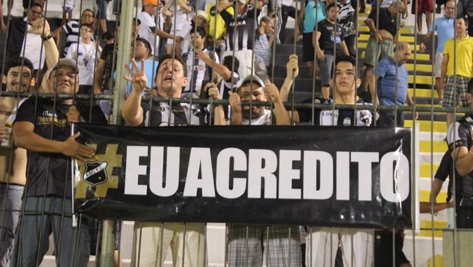 Torcida do ABC - faixa (Foto: Frankie Marcone/Divulgação/ABC)