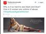 Vestido controverso vira tema de campanha contra violência doméstica