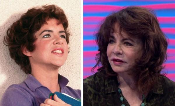A atriz Stockard Channing em Grease (1978) e hoje em dia (Foto: Reprodução)