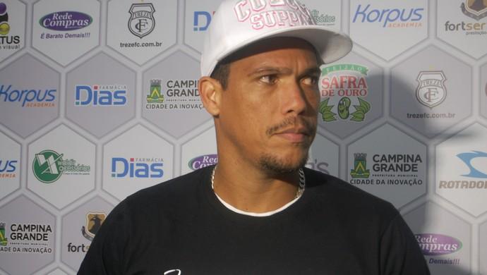 Charles Vágner, volante do Treze (Foto: Silas Batista / GloboEsporte.com/pb)