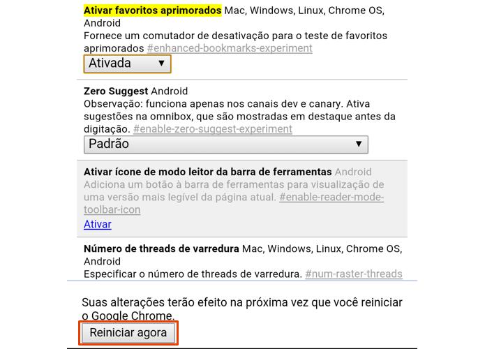 Reinicie o Chrome para finalizar (Foto: Reprodução/Paulo Alves)