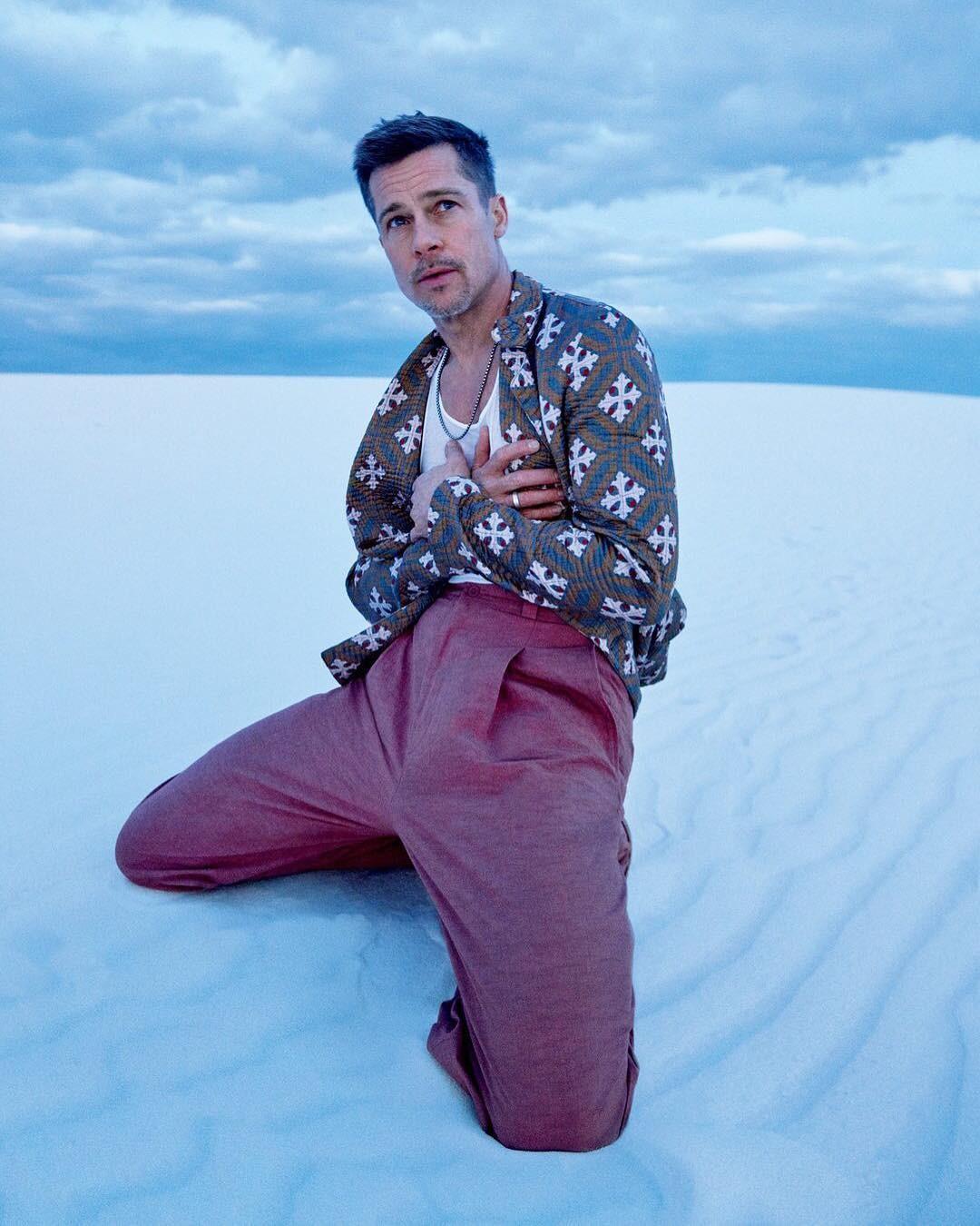 Brad Pitt na GQ Style (Foto: Ryan McGinley)