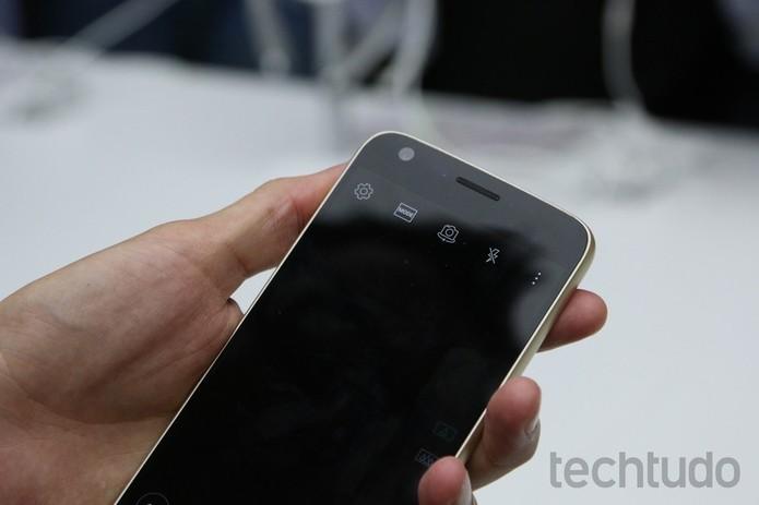 LG G5 têm ótima câmera frontal (Foto: Fabricio Vitorino/TechTudo)