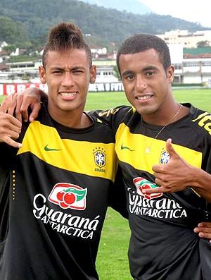 neymar lucas brasil sub 20  (Foto: Márcio Iannacca / Globoesporte.com)