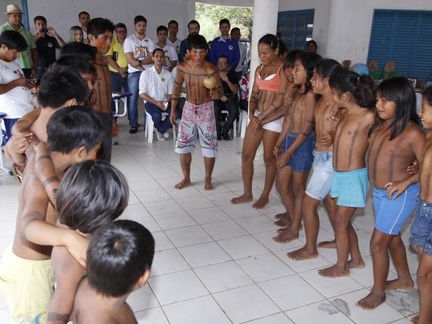 No Tocantins existem 92 escolas voltadas para indígenas  (Foto: Elias Oliveria/Seduc)