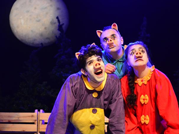 Três irmão precisam se unir para se livrarem de um Lobo faminto (Foto: Divulgação/Karine_Alves)