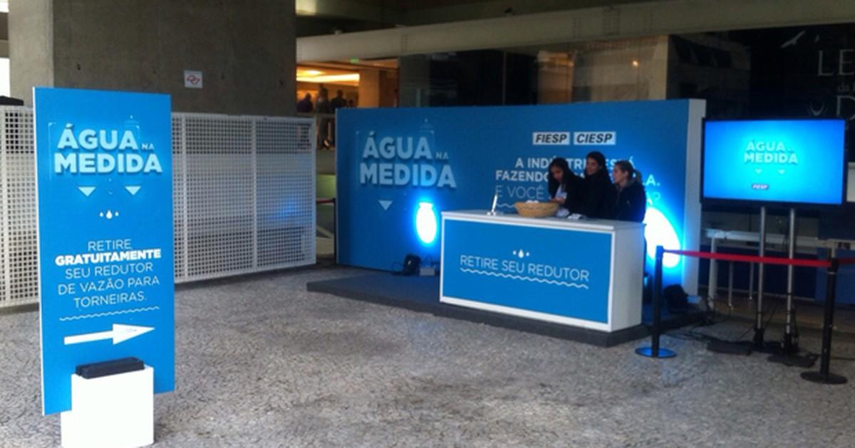 Fiesp distribui redutores de vazão de torneiras em São Paulo