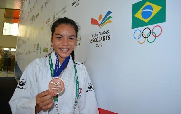 Judô do AM nas Olimpíadas Escolares (Foto: Emanuel Mendes Siqueira/Sejel)