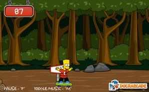 Bart Simpon Skateboarding