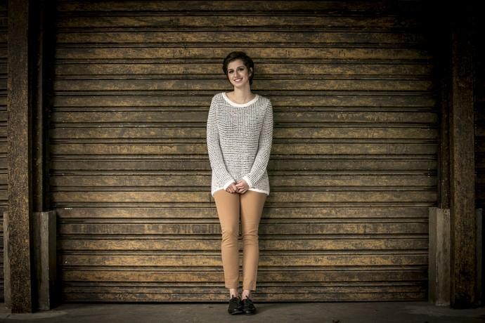 Natalia opta por visual mais arrumado quando sobe ao palco (Foto: Isabella Pinheiro/Gshow)