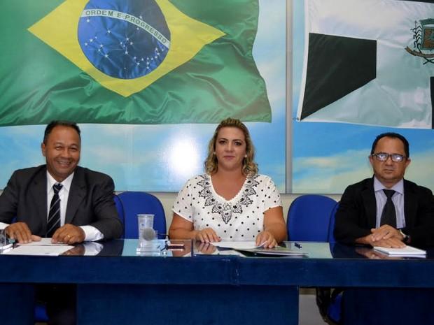 Carla Furini de Lucena (PSDB), é primeira mulher a assumir o cargo de presidente da Câmara de Nova Odessa (Foto: Luciana de Luca/Câmara de Nova Odessa)
