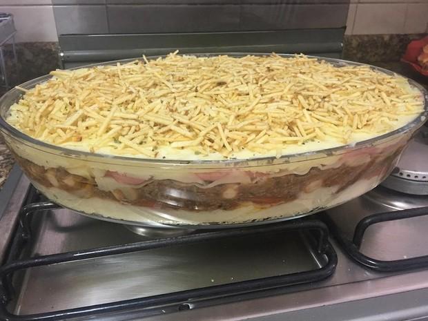 Escondidinho com batata, carne moída e presunto feito por Andressa Urach (Foto: Reprodução/Instagram)