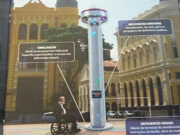 Totem terá 10 metros de altura e 11 câmeras de monitoramento, na UFPE, Recife (Foto: Artur Ferraz/G1)
