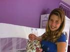 Apenas 12 dias após dar à luz, Debby Lagranha já voltou a seu peso normal