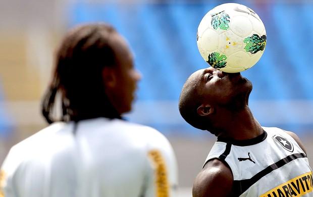 Seedorf no treino do Botafogo (Foto: Satiro Sodré / Ag. Estado)