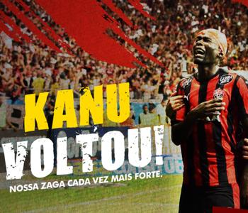 Agora oficializou  Vitória anuncia retorno de Kanu até final de 2016 0664455e27f82