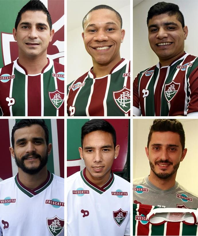 08fbb9e781c9c Montagem Reforço Fluminense (Foto  EDITORIA DE ARTE) Danilinho ...