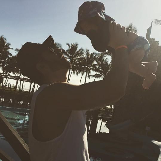 Rodrigão posta foto com o filho (Foto: Reprodução/Instagram)