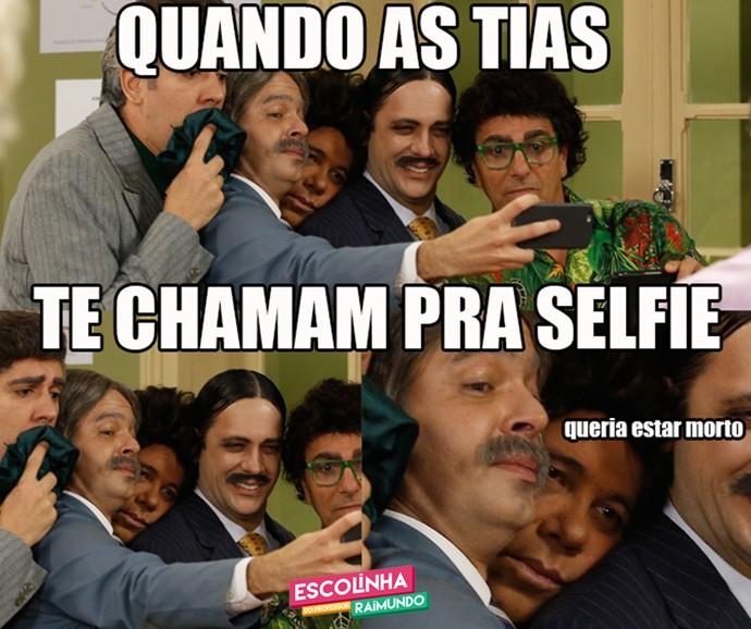 Quando as tias te chamam pra selfie (Foto: Raphael Dias/Gshow)