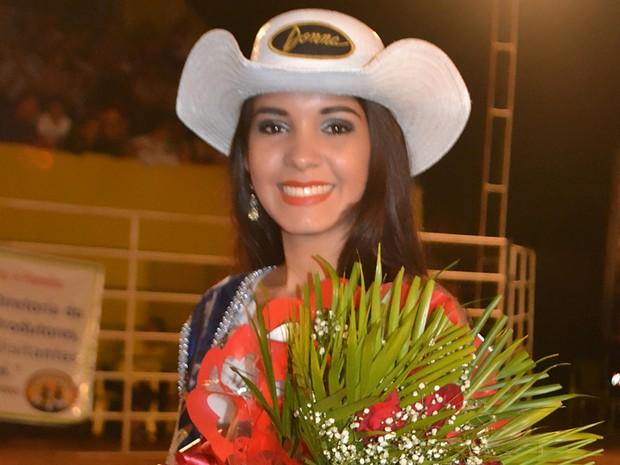 Daiane Lopes ficou com o segundo lugar e ficou com o título de Garota Rodeio 2014. (Foto: Flávio Ribeiro/Divulgação)