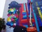 Eduardo Kobra faz mural com homenagem a Bob Dylan nos EUA