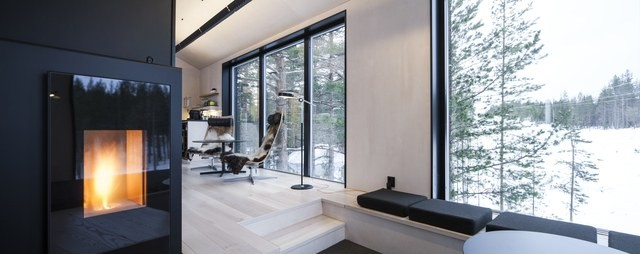 Para deixar os espaços ainda mais aconchegantes, a escolha do estúdio de design Snøhetta foi por revestimentos de madeira (Foto: Reprodução/Johan Jansson)