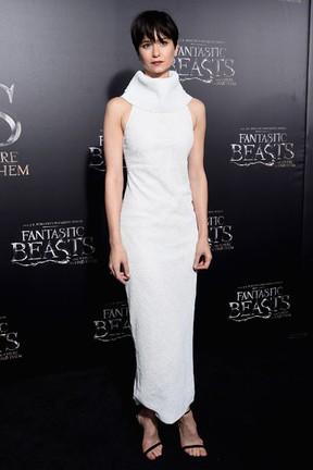 Katherine Waterston em première de filme em Nova York, nos Estados Unidos (Foto: Jamie McCarthy/ Getty Images/ AFP)