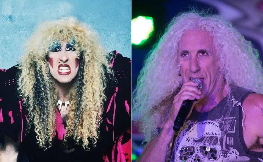 Músicas como 'I Wanna Rock' e 'We're Not Gonna Take It' impressionaram os fãs famintos do rock 'n' roll e Dee Snider, como vocalista do Twisted Sister, abalou a todos com o seu visual freak. De lá pra cá, ele cortou sua farta cabeleira e participou do musical da Broadway 'Rock Of Ages'. Snider é casado com sua parceira de longa data, Suzette Snider, e com ela tem quatro filhos.  (Foto: Divulgação/ Getty Images)