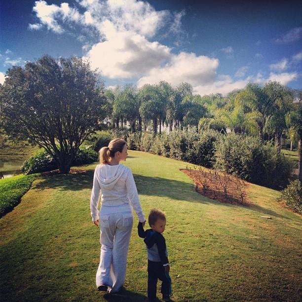 Eliana com o filho (Foto: Instagram / Reprodução)
