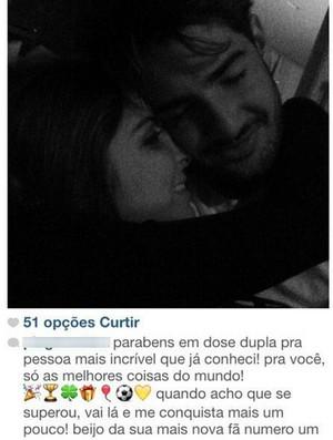 Alexandre Pato; Corinthians; Sophia Mattar (Foto: Reprodução / Instagram)